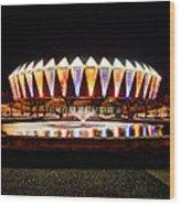 Hampton Coliseum Christmas Wood Print
