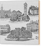 Hampton Institute Wood Print