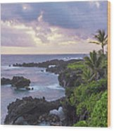 Hana Arches Sunrise 3 - Maui Hawaii Wood Print
