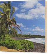 Hana Beach Wood Print