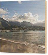 Hanalei Bay Pier - Kauai Hawaii Wood Print