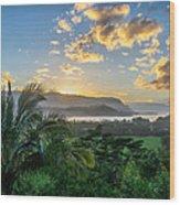 Hanalei Bay Sunset Wood Print