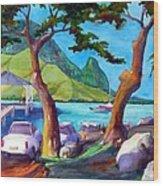 Hanalei Pier Wood Print by Jerri Grindle