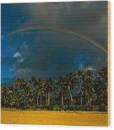 Hanalei Rainbow Wood Print