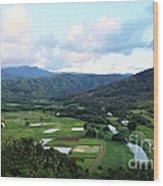 Hanalei Valley Wood Print