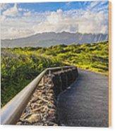 Marshmallow Peaks Wood Print