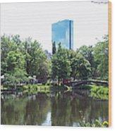 Hancock Building From Lagoon Wood Print