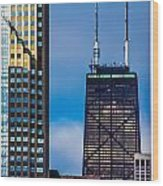 Hancock Building In Chicago  Wood Print