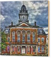 Before It Burned Hancock County Courthouse Art Wood Print