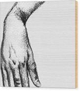 Hand 2 Wood Print