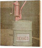 Hand-crank Oil Pump Wood Print
