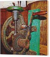 Hand Cranked Wood Print