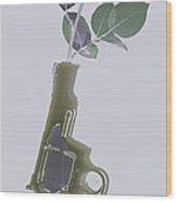 Hand Gun And Flower X-ray Series 1 Wood Print