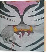 Hand In Mouth Wood Print by Kendya Battle