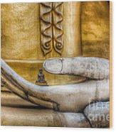 Hand Of Buddha Wood Print