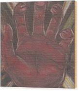 Hand Of God - Death Wood Print