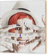 Hand Smile  Wood Print
