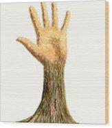 Hand Tree Wood Print