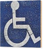 Handicapped Symbol Wood Print