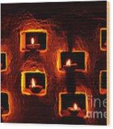 Handmade Oil Candles For Diwali Wood Print