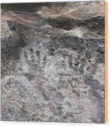 Handprints Of The Past Wood Print