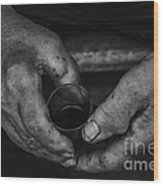 Hands Of An Worker Wood Print