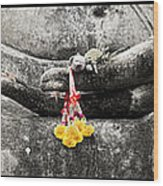 Hands Of Buddha Wood Print