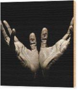 Hands to Heaven Wood Print