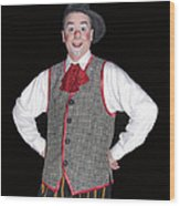 Handsome Clown At The Circus Wood Print