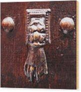 Handy Door Knocker Wood Print
