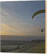 Hang Gliding At Dunstable Downs Wood Print