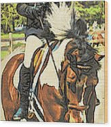 Hang On Tight To Your Painted Horse Wood Print