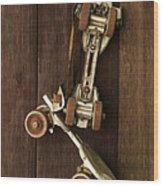 Hang Up Your Skates - Oil Wood Print