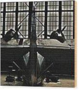 Hangar B Floyd Bennett Field Wood Print