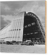 Hangar One At Moffett Field Wood Print by Underwood Archives