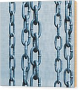 Hanged Chains Wood Print by Carlos Caetano