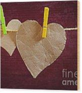Hanged Heart Wood Print