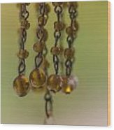 Hanging Beaded Votive Abstract  3 Wood Print