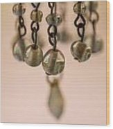 Hanging Beaded Votive Abstract 5 Wood Print