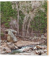Hanging Bridge Wood Print