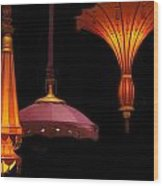 Hanging Lamp  Wood Print