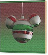 Hanging Mickey Ears 02 Wood Print