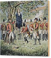 Hanging Of Nathan Hale Wood Print