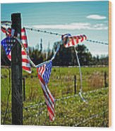 Hanging On - The American Spirit By William Patrick And Sharon Cummings Wood Print