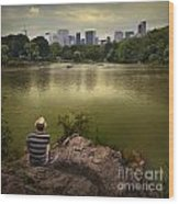 Hanging Out In Central Park Wood Print