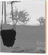Hanging Pot Dig Wood Print by Stefano Piccini