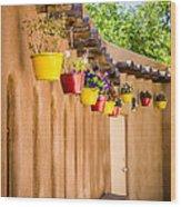 Hanging Pots Wood Print
