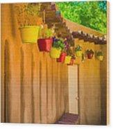 Hanging Pots - Watercolor Wood Print