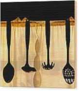 Hanging Utensils 2 Wood Print