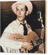 Hank Williams Sr. Wood Print by Pg Reproductions